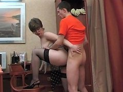 Mature Boss Toying and Getting Banged..