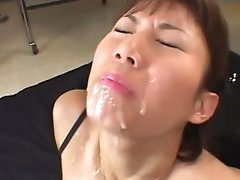 Asian beauty getting creamed well