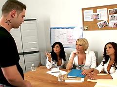 Three Nurses Seduce Patient Into Hot..