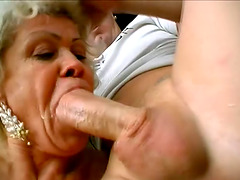 Two Horny Grannies Are Sharing One..