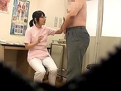 Slutty Asian nurse gives a lucky..