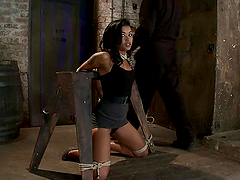 Gagged and bound Skin Diamond gets..