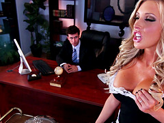 Busty Maid Gets Fucked Hard By Her..