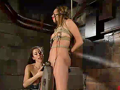 Blonde Beauty Gets Toyed and Tortured..