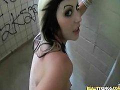 Emo Babe Fucked In Public Restroom