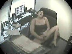 Office Masturbation With  A Horny..