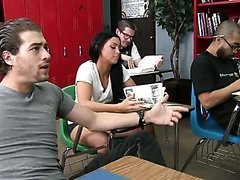 Deep-Throated Teacher Lezley Zen Gets..
