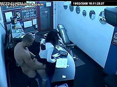Gym Coach gives Hot Receptionist a..
