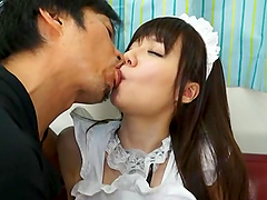 Yurika Miyaji is fucked hard dressed..