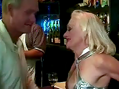 Blonde granny Kathy Jones jumps on a..