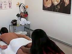 Asian bitch has nice long hair, a sexy..