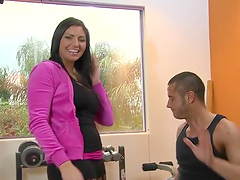 Rough sex in the gym with the stunning..