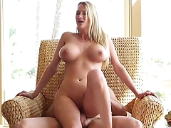 Titty blonde Blake Rose fuck in doggy..