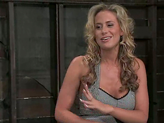 Gorgeous blond lady gets staffed with..