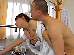 Hot sex with the horny Asian nurse..