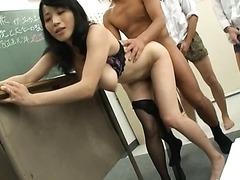 Horny Teacher Natsumi Kitahara Gets..