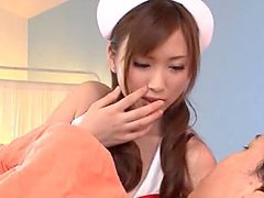Asian Nurse Riding A Patient's Really..