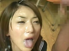 Alluring Japanese cum-swallowing..