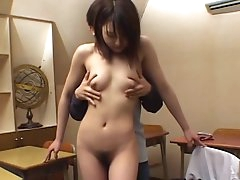 Asian schoolgirl being fucked in her..