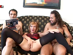 DP Threesome with Redhead MILF May..