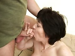 Saggy Titted Brunette Mature Gets Her..