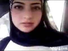 Naturally Busty Arab Teen Exposes Her..