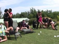 Crazy Outdoors Sex Party