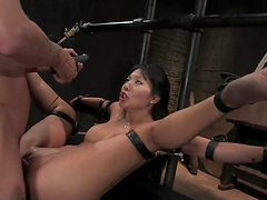 Asa Akira gets her Asian pussy drilled..