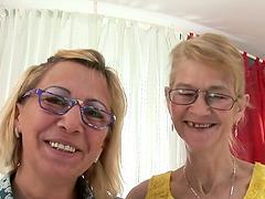 Blonde grannies Milli and Beata finger..