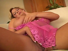Big tittied MILF gets her wet pussy..