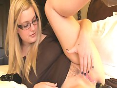 Chubby blonde enjoys anal solo