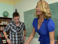Horny Teacher Brenda James Showing A..