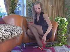 Barbara Enjoys Her Nylon Feet