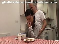 Sexy Italian Teen Wanks an Old Man's..