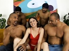 Katie Lane gets Fucked By Three Guys..