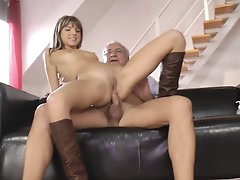 Small-tit chick Gina H fuck with old..