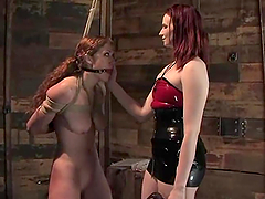 Sabrina Fox gets her pussy tortured..