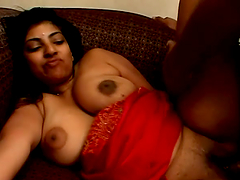 Curvy Indian chick with big nipples..