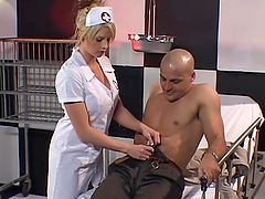 Delightful nurse is getting a big one