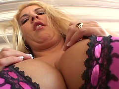 MILF with huge boobs gets fucked in..
