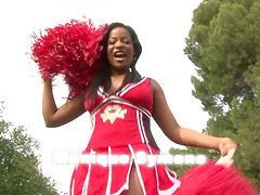 Busty cheerleader Monique Symone..
