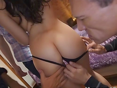 Gangbang action with big cocks for the..