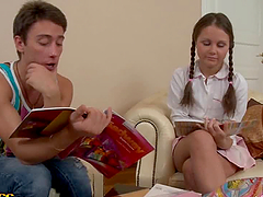 Slender Russian teen Mystica enjoys a..
