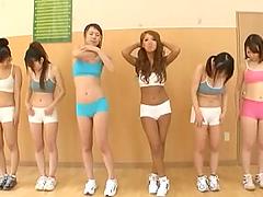 Wild skinny Japanese models fucking..
