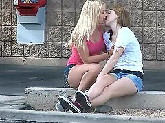 Supermarket Lesbian Scene With The Hot..