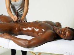 Black Cock Massaged By Expert Hands