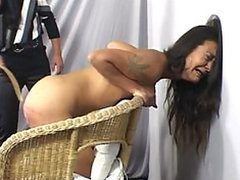 Nasty Babe Gets Spanked Extremelly Hard