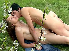 Great Outdoor Sex With The Blonde Teen..