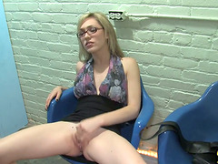 Naughty And Horny Chick In Glasses..