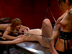 Two bitchy mistresses are humiliating..